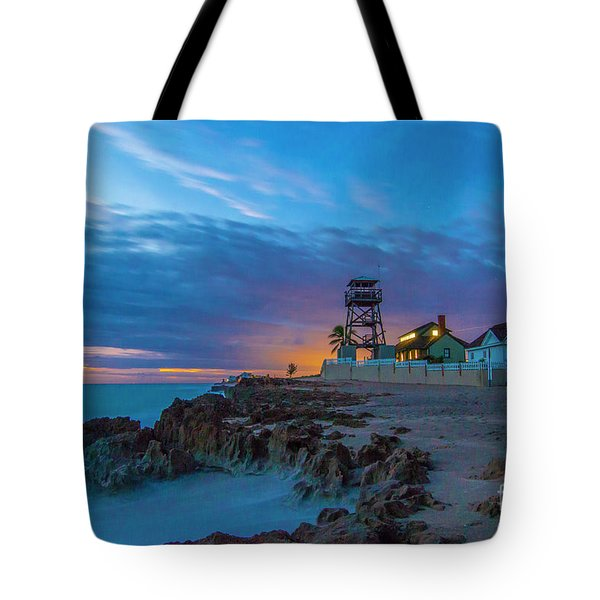 Tote Bag featuring the photograph House Of Refuge Morning by Tom Claud