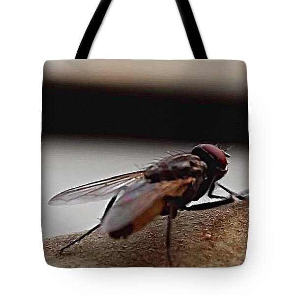 Tote Bag featuring the digital art Housefly Detail by Shelli Fitzpatrick