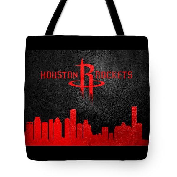 Houston Rockets Skyline Tote Bag