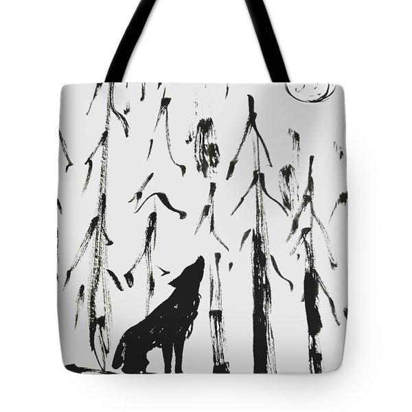 Tote Bag featuring the painting Howl #2 by Maria Langgle