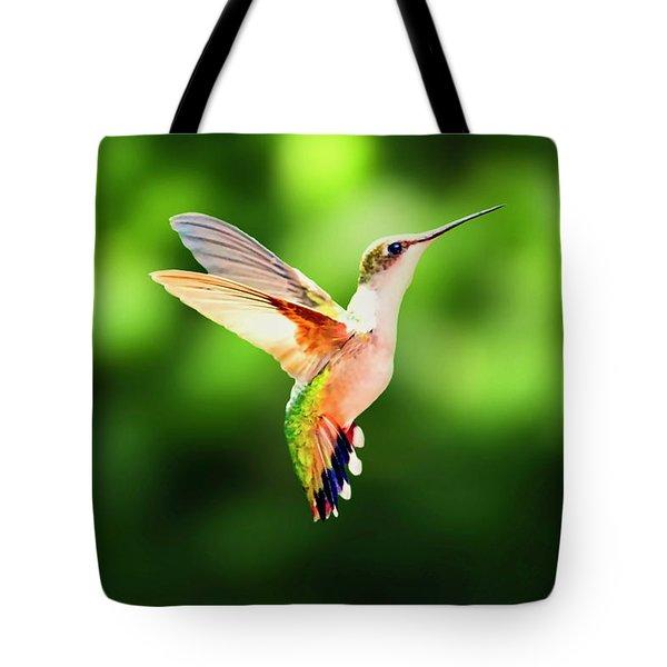 Hummingbird Hovering Tote Bag