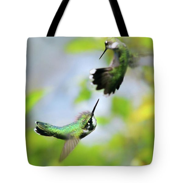 Hummingbirds Ensuing Battle Tote Bag