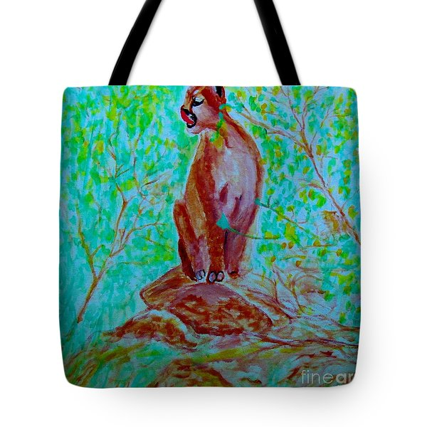 Hungry Mountain Lion Tote Bag