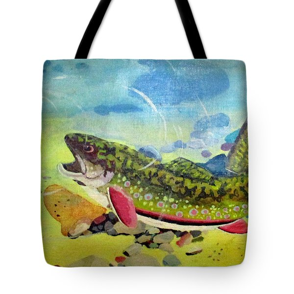 Hungry Trout Tote Bag