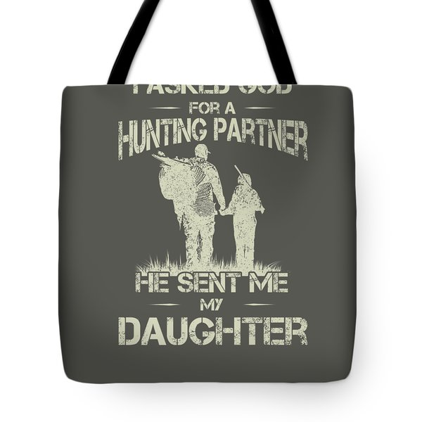 Hunter Dad And Daughter Hunting Partners Funny Father Day Premium T-shirt Tote Bag