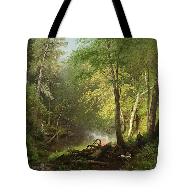 Hunter In The Woods, 1882 Tote Bag