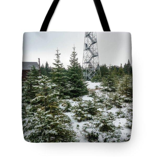 Hunter Mountain Fire Tower Tote Bag