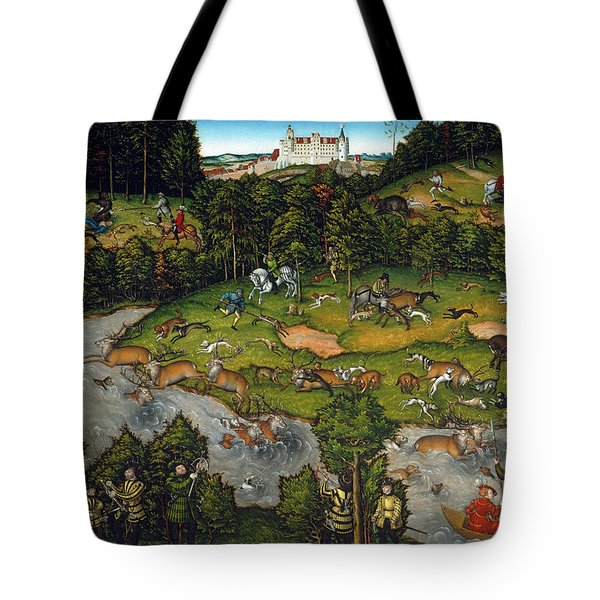 Hunting Near Hartenfels Castle, 1540 Tote Bag