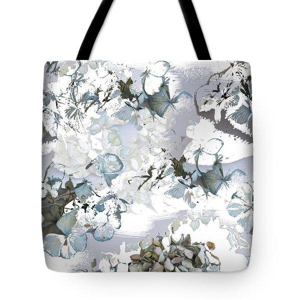 Hydrangeas In Powder Blue Tote Bag