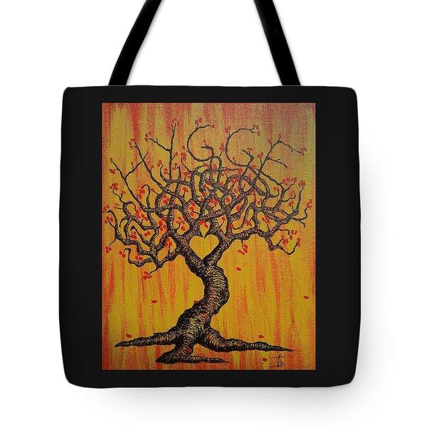 Hygge Love Tree Tote Bag