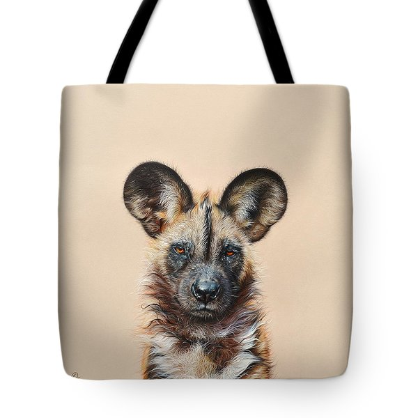 I Am A Wild Thing - African Painted Dog Tote Bag