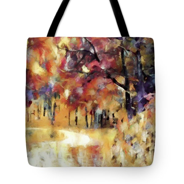 Tote Bag featuring the mixed media I Dream Of Fall by Susan Maxwell Schmidt