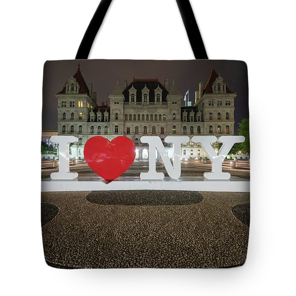 Tote Bag featuring the photograph I Love Ny by Brad Wenskoski
