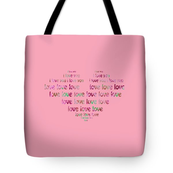 Tote Bag featuring the digital art I Love You 2 by Corinne Carroll