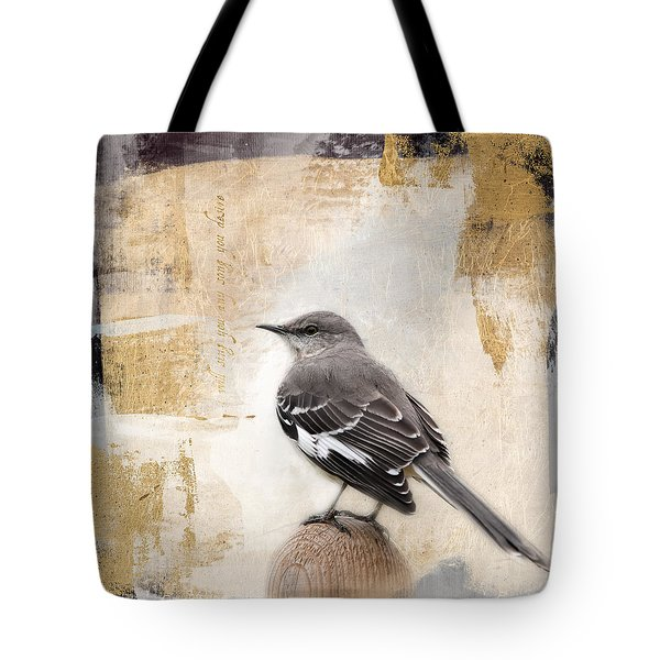 Tote Bag featuring the photograph I Will Sing You Any Song You Desire by Jai Johnson