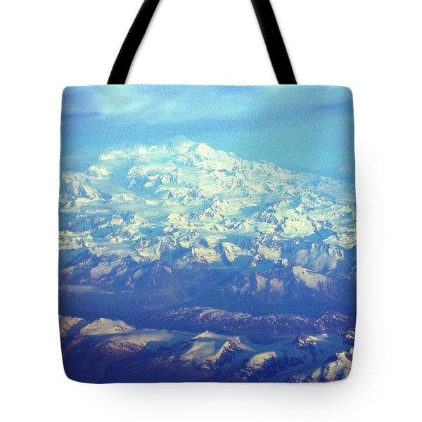 Ice Covered Mountain Top Tote Bag