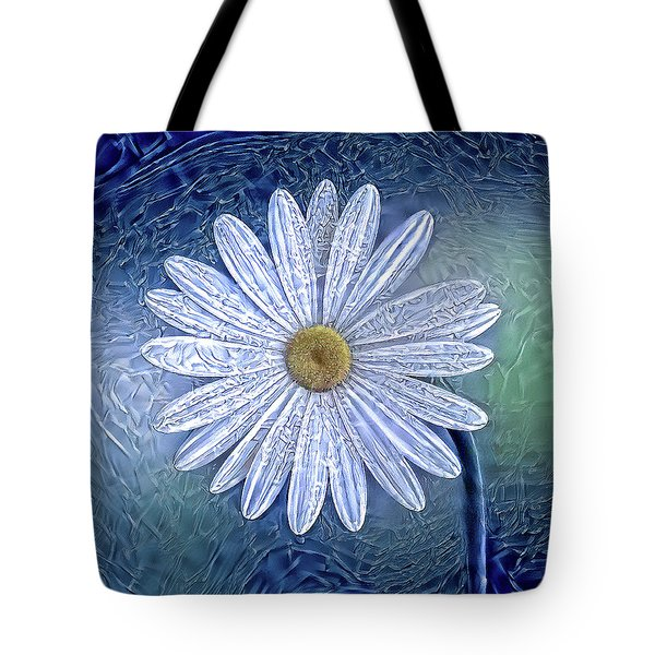 Ice Daisy Flower Tote Bag