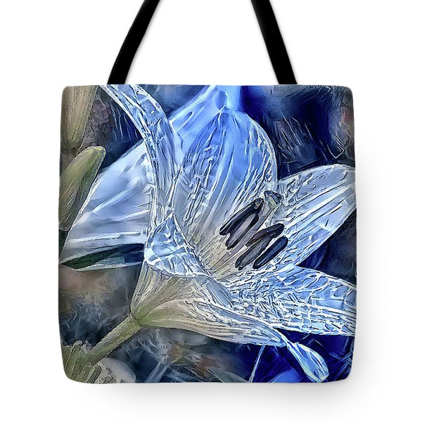 Ice Lily Tote Bag