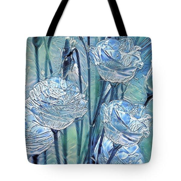 Ice Lisianthus Tote Bag