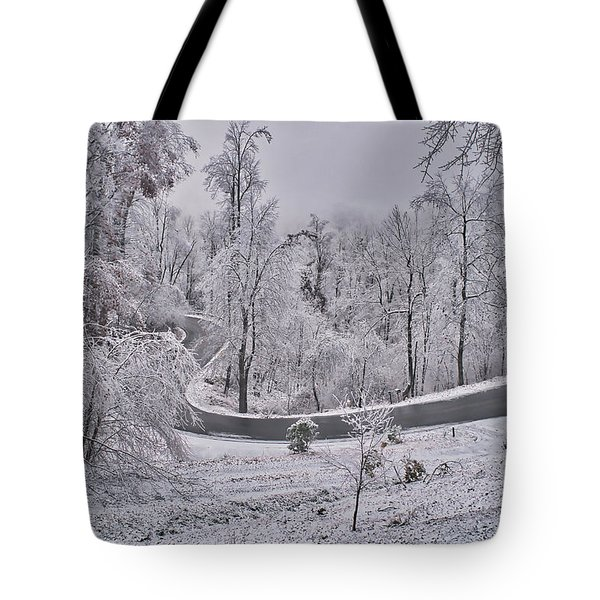 Tote Bag featuring the photograph Ice Storm by Meta Gatschenberger