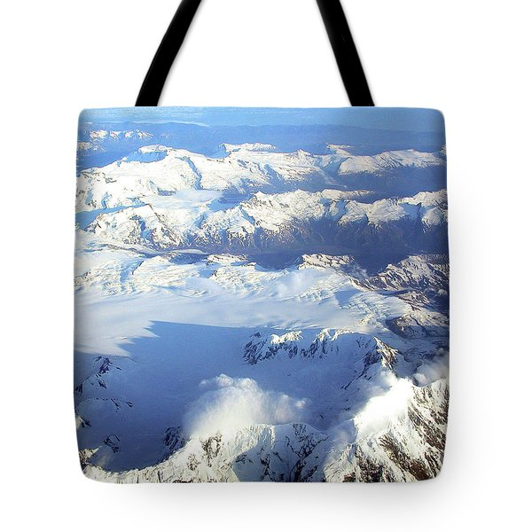 Icebound Mountains Tote Bag