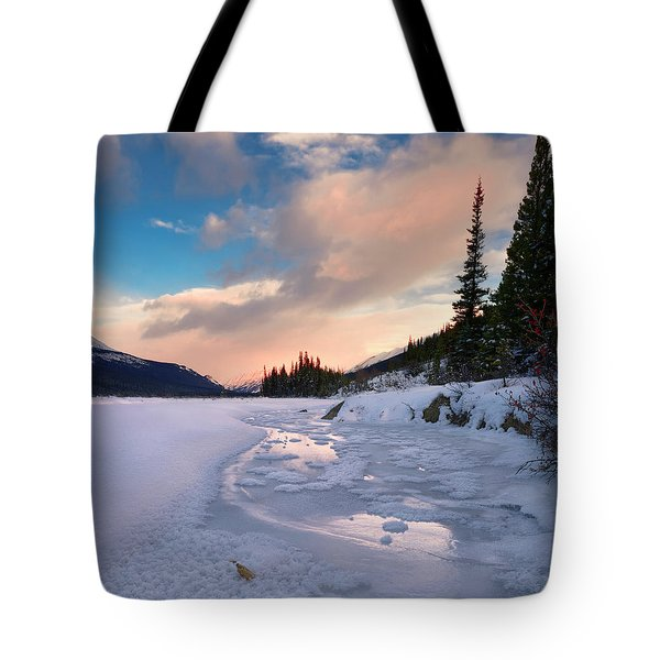 Icefields Parkway Winter Morning Tote Bag