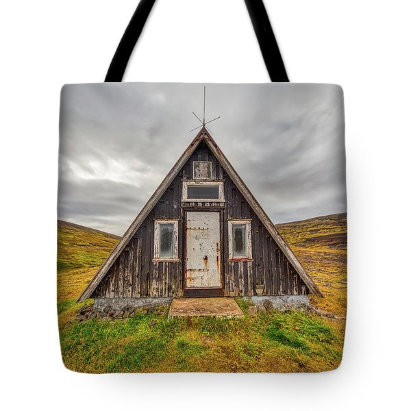 Tote Bag featuring the photograph Iceland Chalet by David Letts