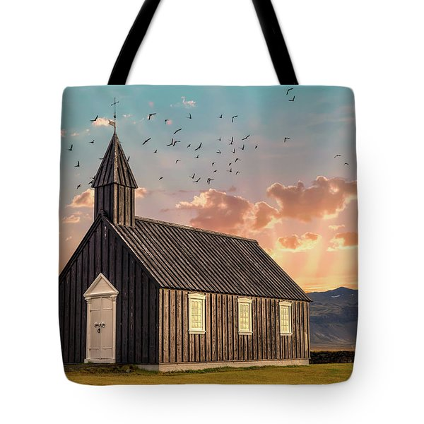 Tote Bag featuring the photograph Iceland Chapel by David Letts