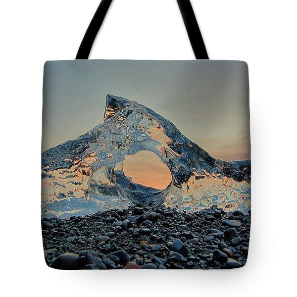 Iceland Diamond Beach Abstract  Ice Tote Bag
