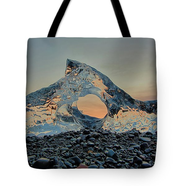 Iceland Diamond Beach Abstract  Ice Tote Bag