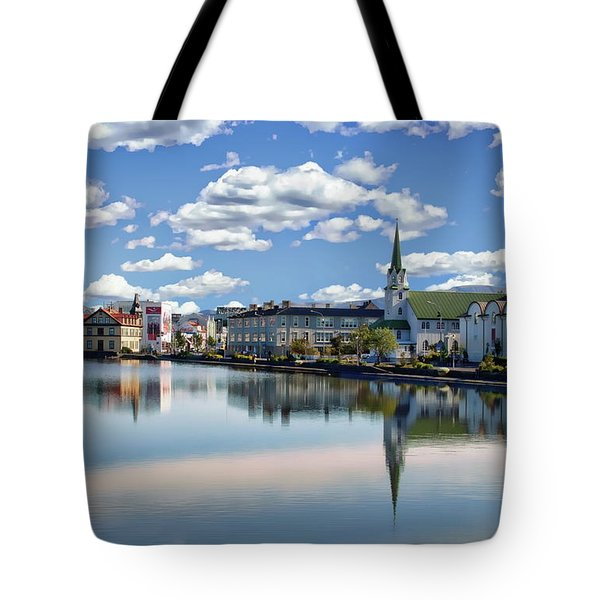 Tote Bag featuring the photograph Icelandic Coastal View by Anthony Dezenzio