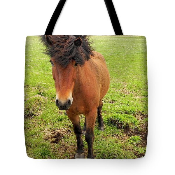 Tote Bag featuring the photograph Icelandic Horse With Tousled Mane by Marla Craven