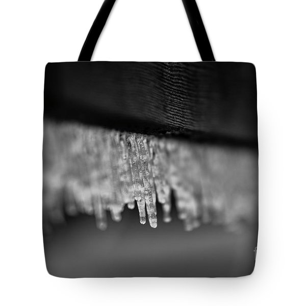 Icy Fence Tote Bag