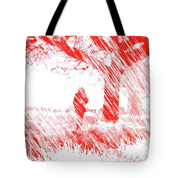 Icy Shards Fall On Setttled Snow Tote Bag