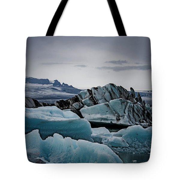Icy Stegosaurus Tote Bag