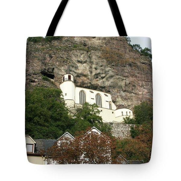 Tote Bag featuring the photograph Idar-oberstein Felsenkirche by PJ Boylan