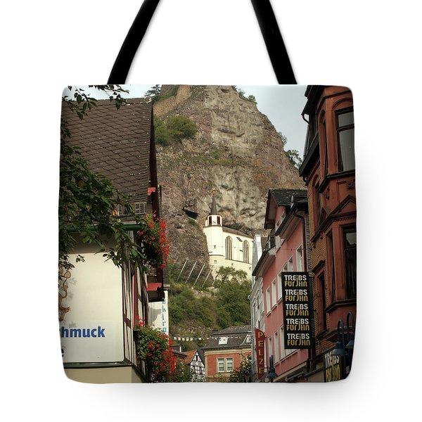 Tote Bag featuring the photograph Idar-oberstein Street View by PJ Boylan