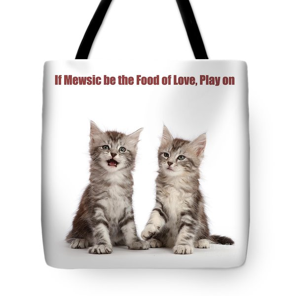 Tote Bag featuring the photograph If Mewsic Be The Food Of Love, Play On by Warren Photographic
