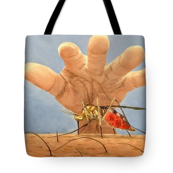 Tote Bag featuring the painting Ignorance Is Bliss by Kevin Daly