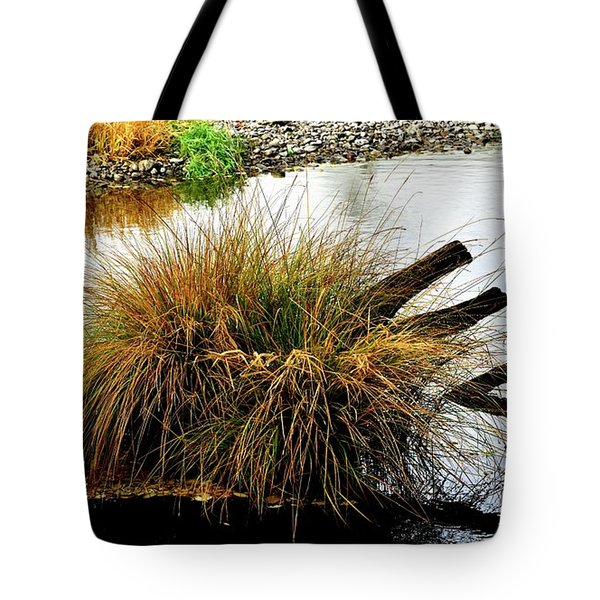 Tote Bag featuring the photograph Illinois River Reflection by Jerry Sodorff