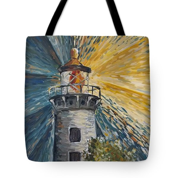 Tote Bag featuring the painting Illumination by Maria Langgle