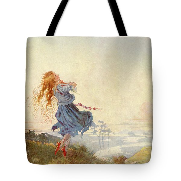 Illustration For The Red Shoes Tote Bag