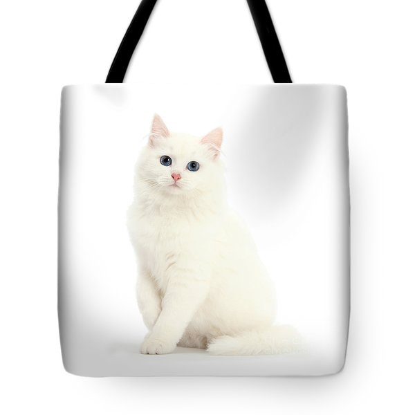 Tote Bag featuring the photograph I'm All White by Warren Photographic