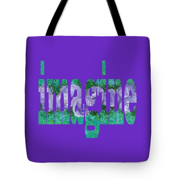 Tote Bag featuring the digital art Imagine 1010 by Corinne Carroll