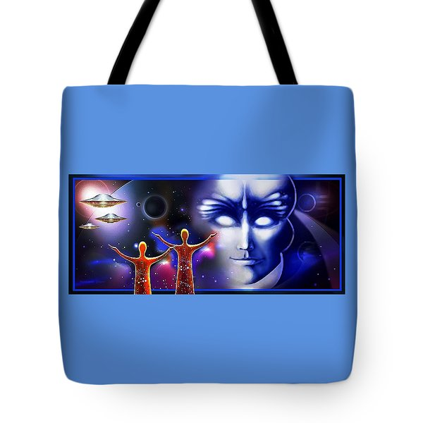 Imagine - What Is Out  There Tote Bag