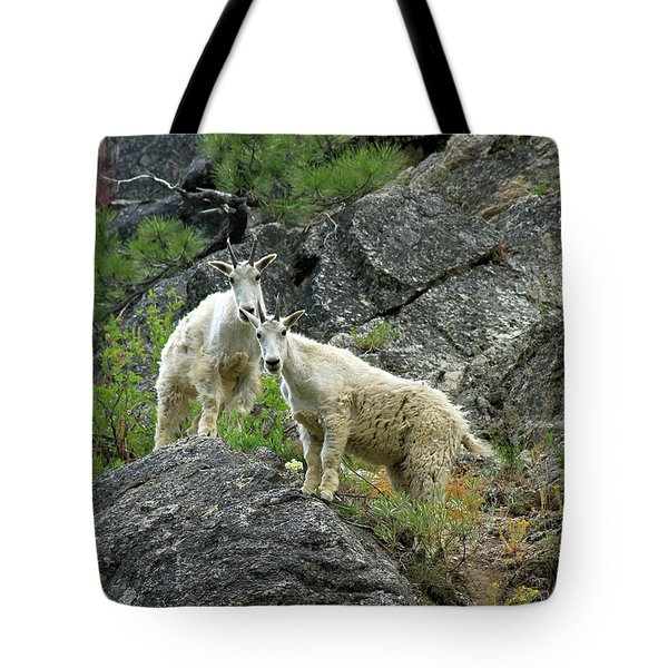 Idaho Mountain Goats Tote Bag