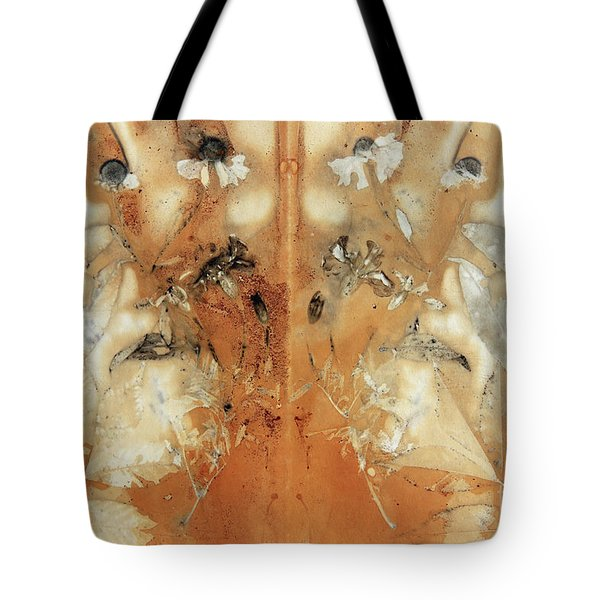 Imprint Of The Leaves And Plants Tote Bag