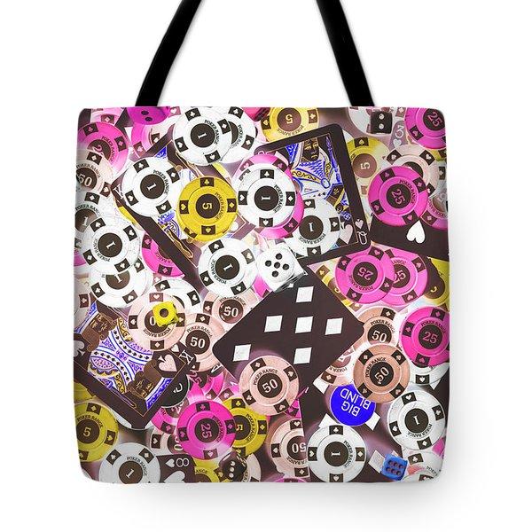 In Casino Colors Tote Bag