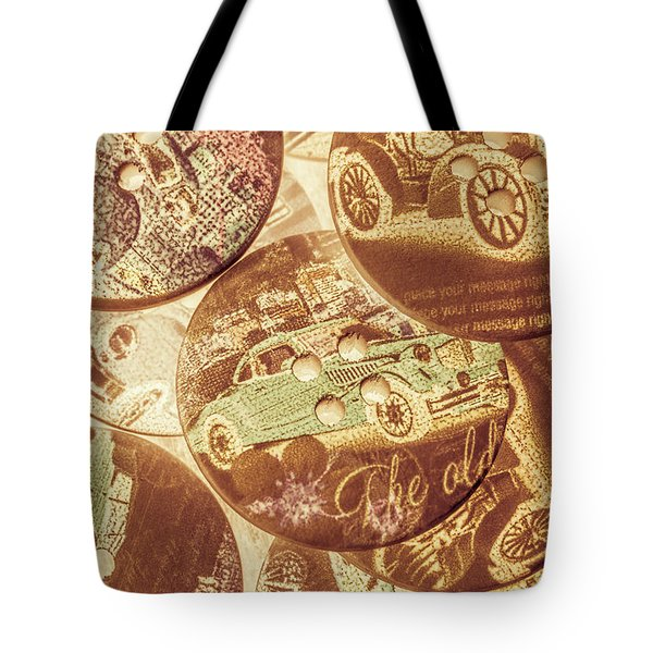In Fashion Of Classic Cars Tote Bag