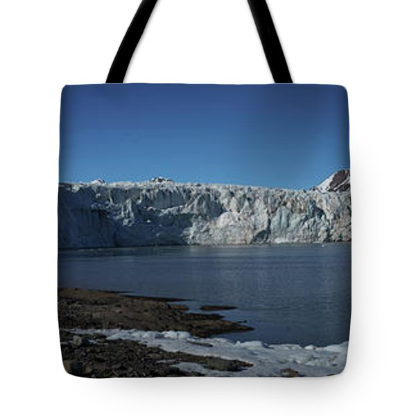 In Front Of A Glacier On Svalbard Tote Bag